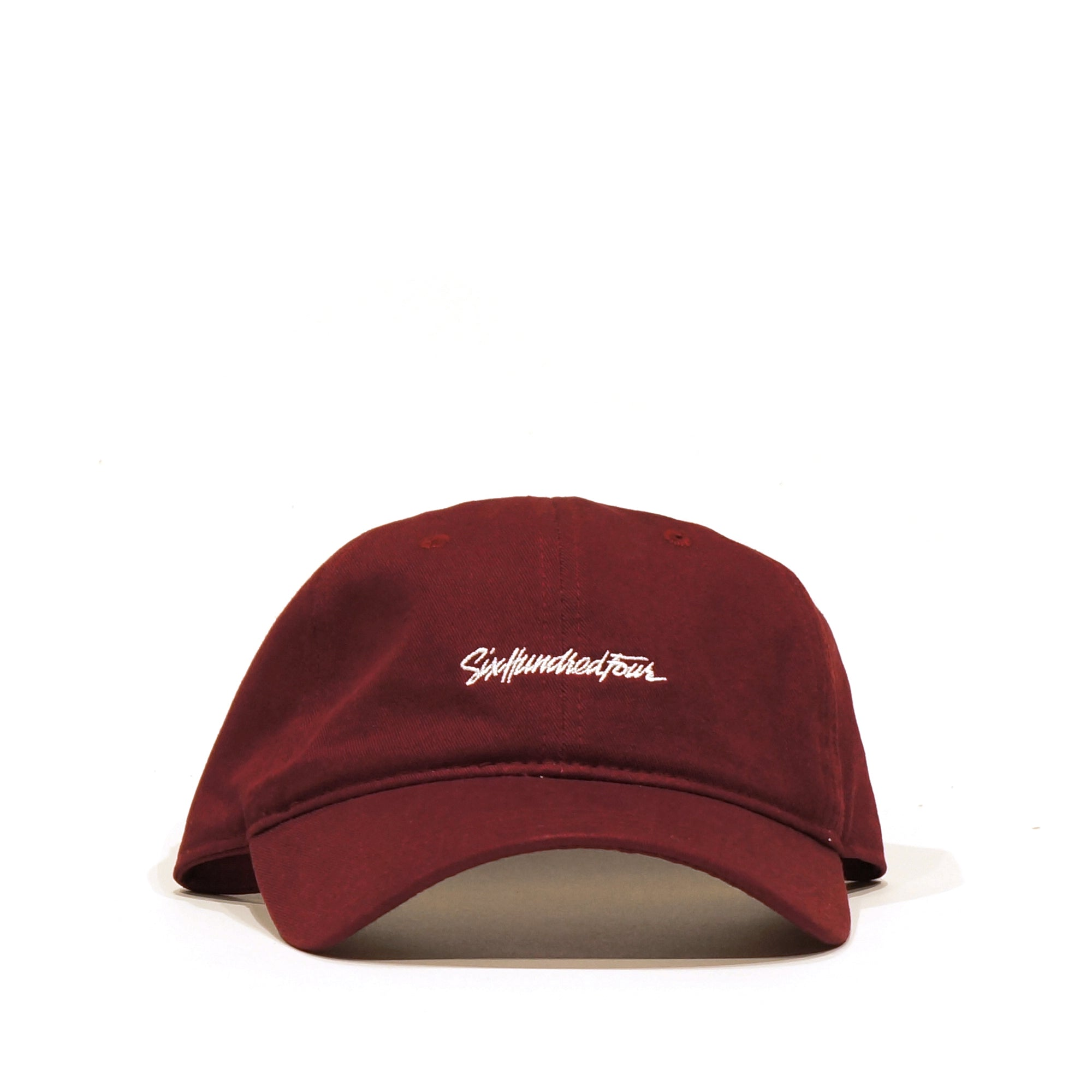 Curved Low Rise Hat - Burgundy