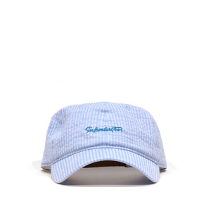 Curved Low Rise Hat - Seersucker Carolina