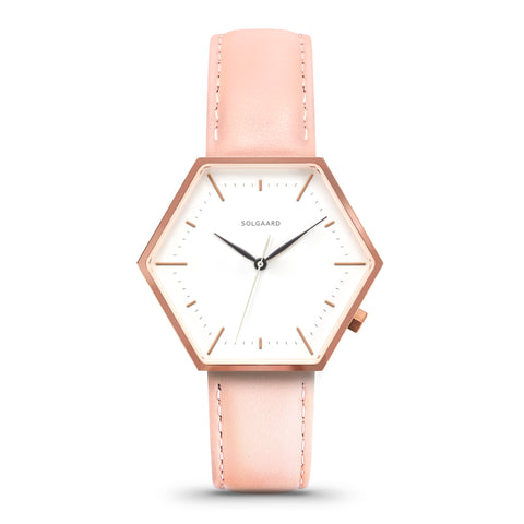 Hex Watches by Solgaard Design - Women's Aria Series One - Rose