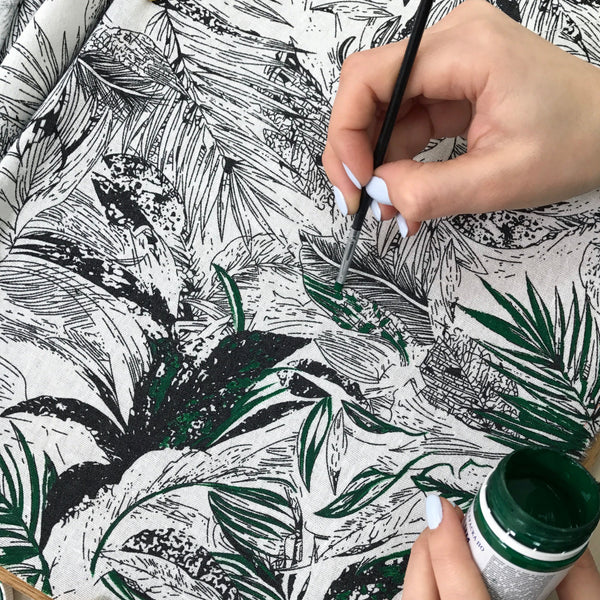 LILO - Hand Painted Tropical Leaves Dog Bandana
