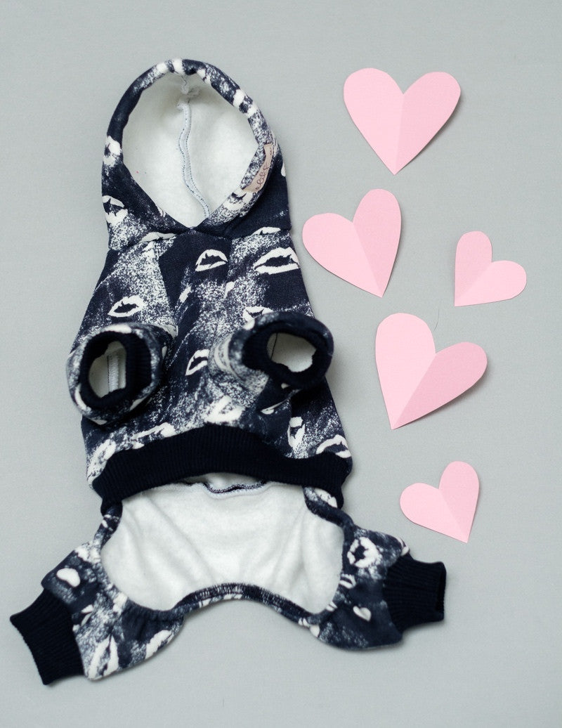 Valentine Dog Jumpsuit by Elikko