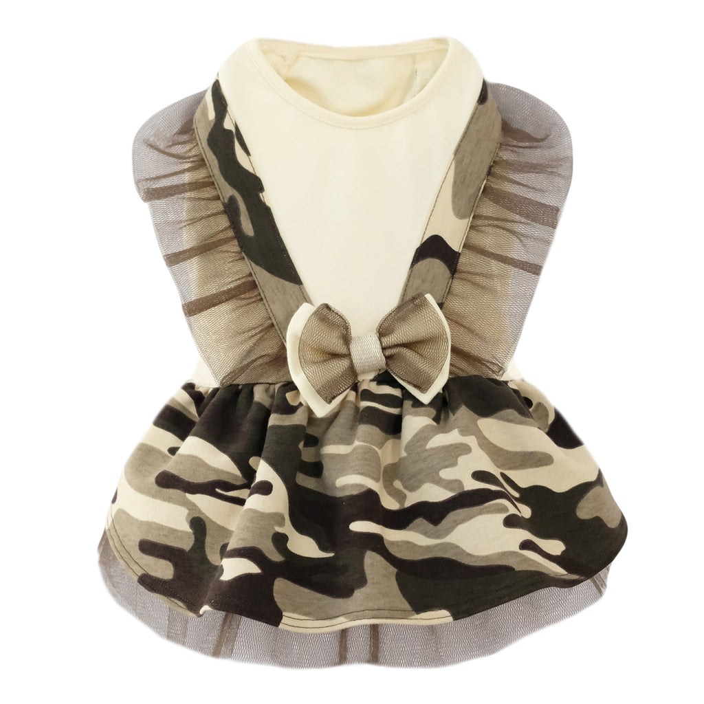 Camouflage Dog Dresses. Army Dog Dresses. Camo Dog Dresses. Camo Dog Clothes. Fashion Army Camouflage Pet Dog Dress Clothes. Perfect dog dress for Halloween. Halloween dog outfit. Beautiful and cute dog dresses. Female dog dresses. Unique dog dresses by Elikko.
