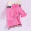 Warm and soft fleece dog sweater. Winter dog clothes. Cute pink dog hoodie for small and big size dogs female. Warm pet clothes. Winter Dog Sweater. Designer dog clothes. Fancy and modern dog clothes. Unique dog sweater by Elikko.