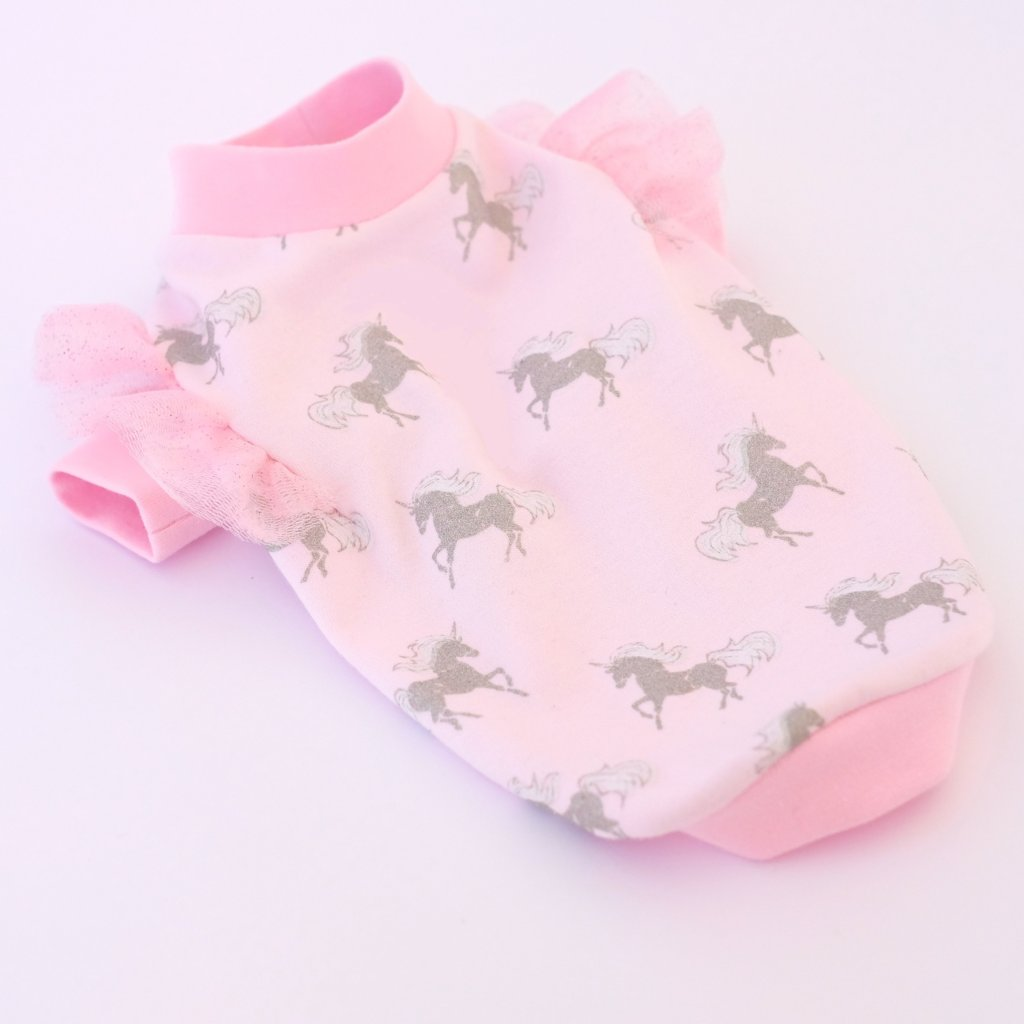 Pink Unicorn Hoodie for Dogs
