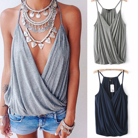 5adc34a96b Hot Sleeveless Loose Beach Cover Up Top