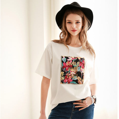 17c6a08657 Womens Charming Smile For Me Graphic T-Shirt