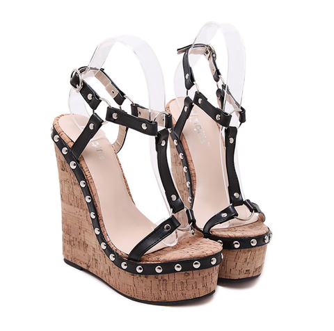 741af42dada6 Womens Edgy Ankle Strap Open Toe Wedge Platforms – Bauble   Co.