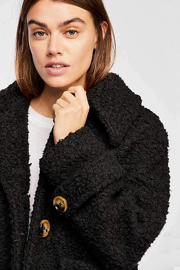 So Soft Cozy Peacoat Free People