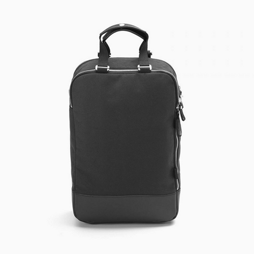 Daypack Black Leather Canvas Qwstion