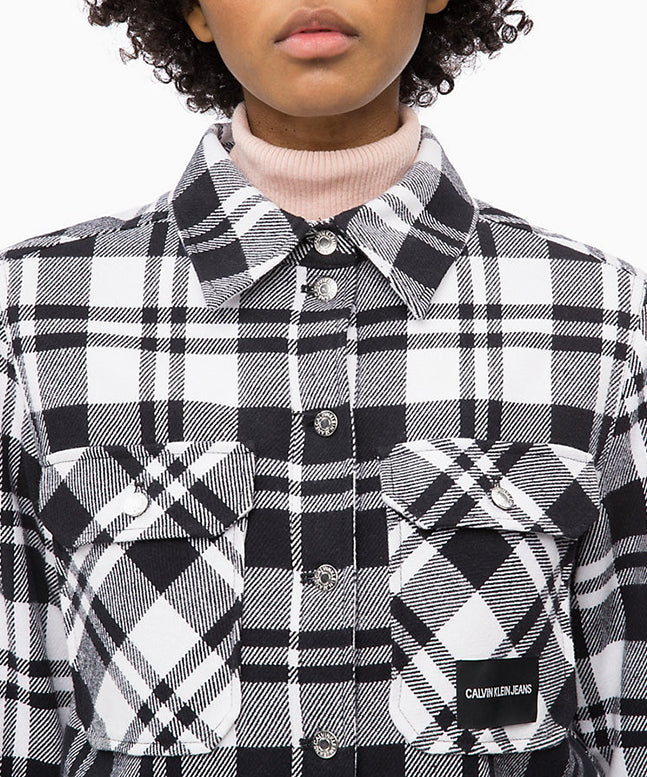Check Shirt Jacket Calvin Klein