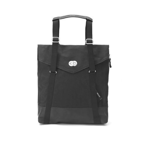 Tote Black Leather Canvas Qwstion