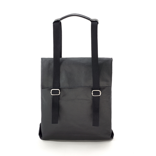 Small Tote Organic Jet Black Qwstion