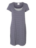 Petra Maternity Nightie With Nursing Access Blue & Grey