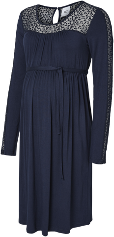 Anette Navy Jersey Maternity & Nursing Dress