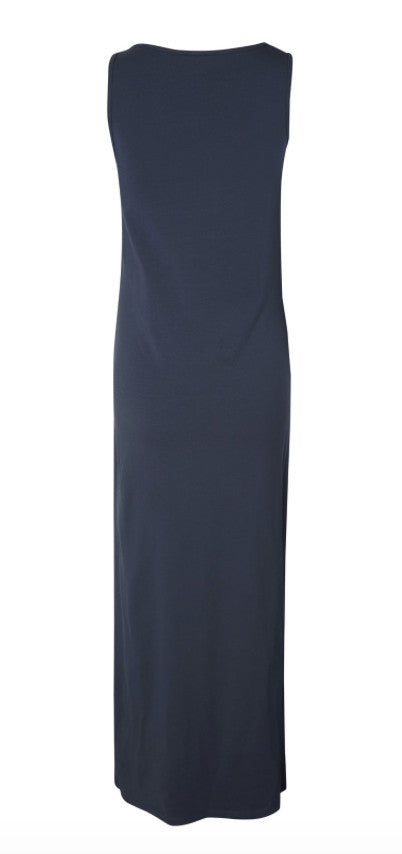 Lea Organic Cotton Maternity Maxi Dress -NAVY