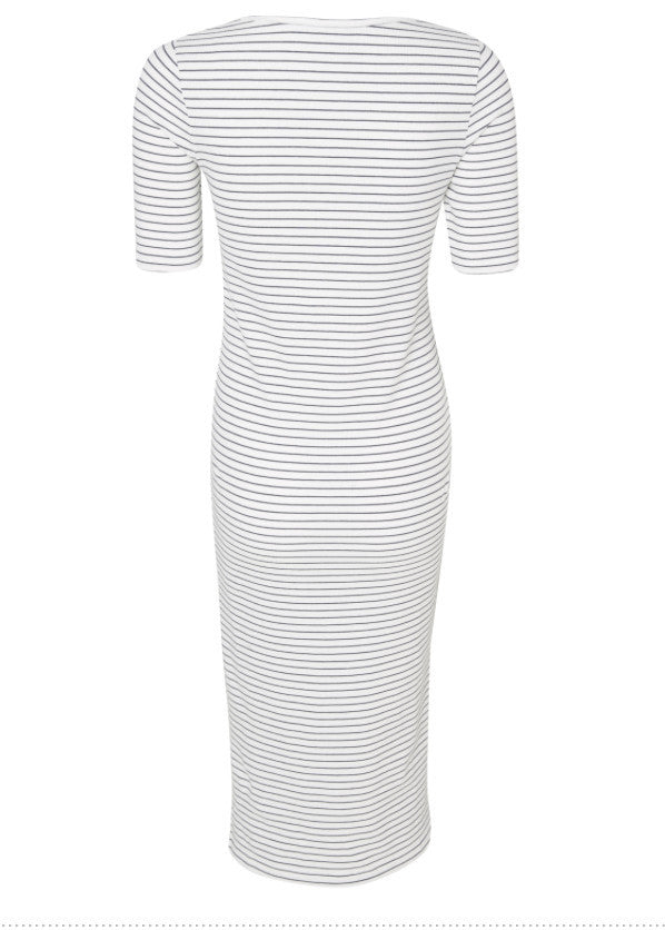 Lilla 2/4 Sleeved Jersey Maternity Midi Dress