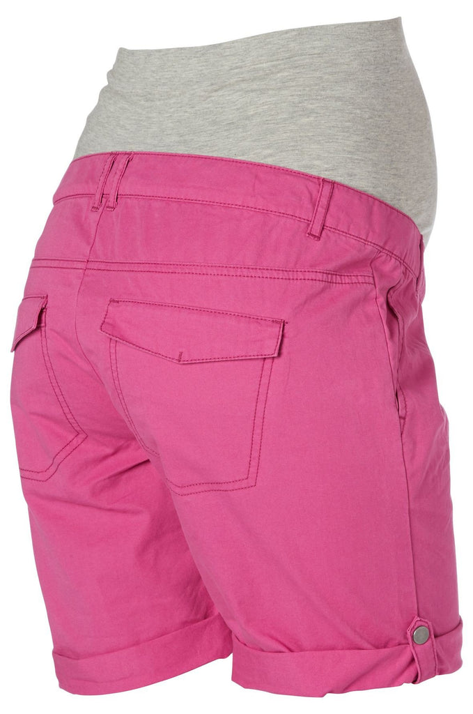 Andrea Cotton Soft Smart Mamalicious Maternity Shorts Raspberry