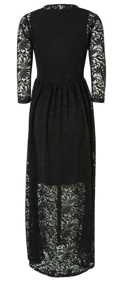 Barok Black Lace Maternity Dress Special Occasion Evening Maxi