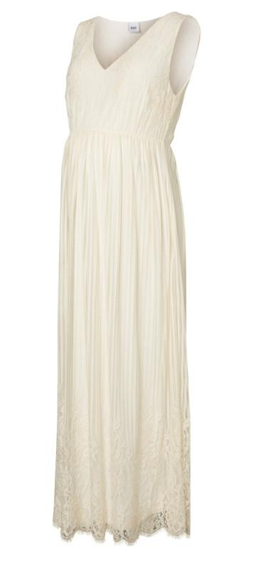 Becky Antique White Maternity Maxi Dress