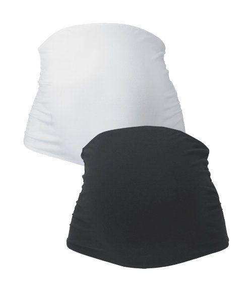 Cara 2 Pack Maternity Bump Band Black & White