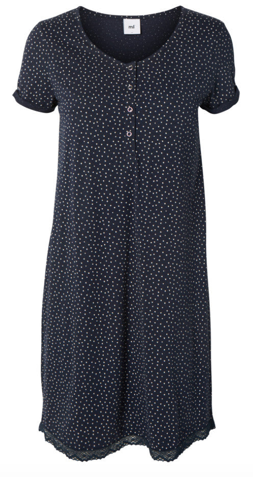 Lia Short Sleeved Jersey Maternity & Nursing Nightie