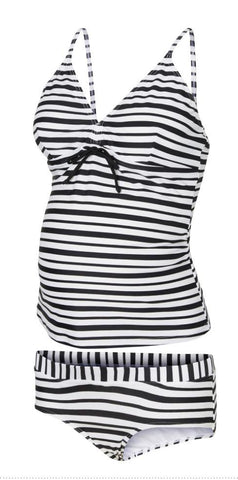 Maternity Stripes and Dots Swimsuit