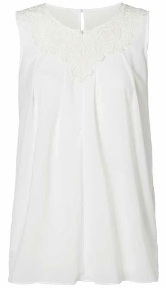 Felicia Lia Pretty White Maternity & Nursing Top Large & XLarge Only