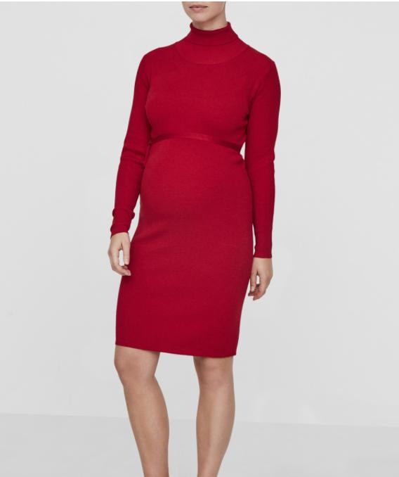 Jacina Long Sleeved Knitted Maternity Dress