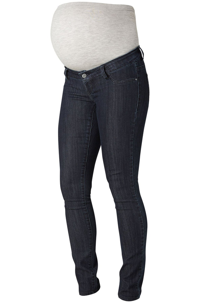 Julia Unwashed Slim, Dark Blue Maternity Jeans.
