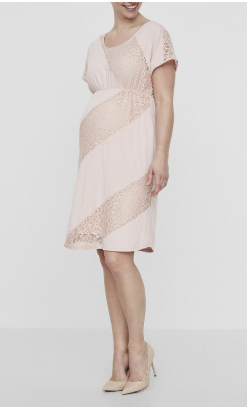 Katina Short Sleeved Jersey Maternity Dress