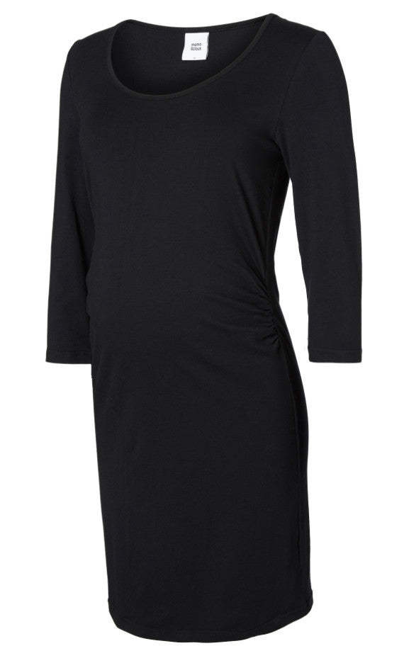 Lea Organic Cotton 3/4 Sleeved Black Dress