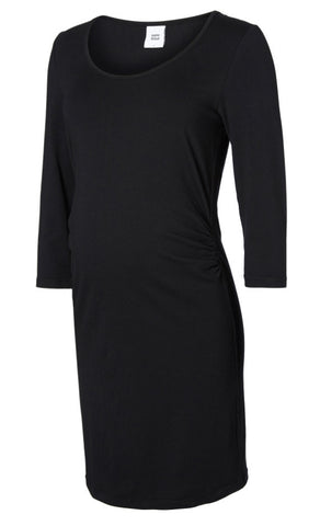 Molina Nell LS Maternity & Nursing Top Drape Detail Navy