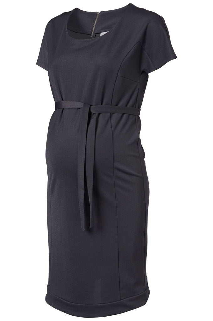 Lima SS Maternity Dress Dark Grey Office Business Wear