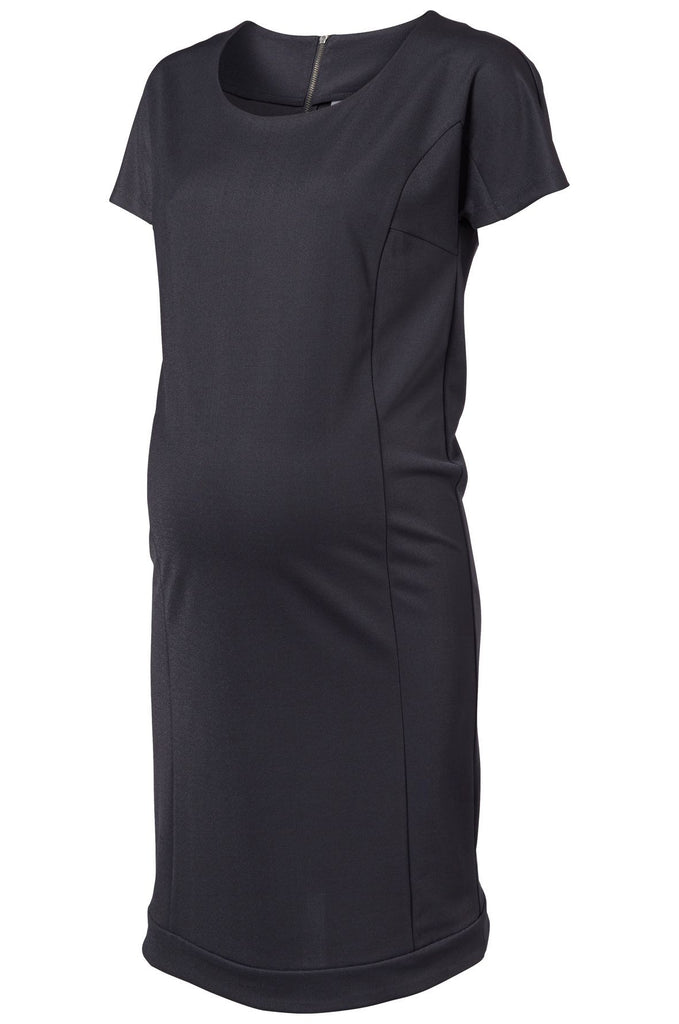 Lima Maternity Dress Dark Grey Office Business Wear Small ONLY