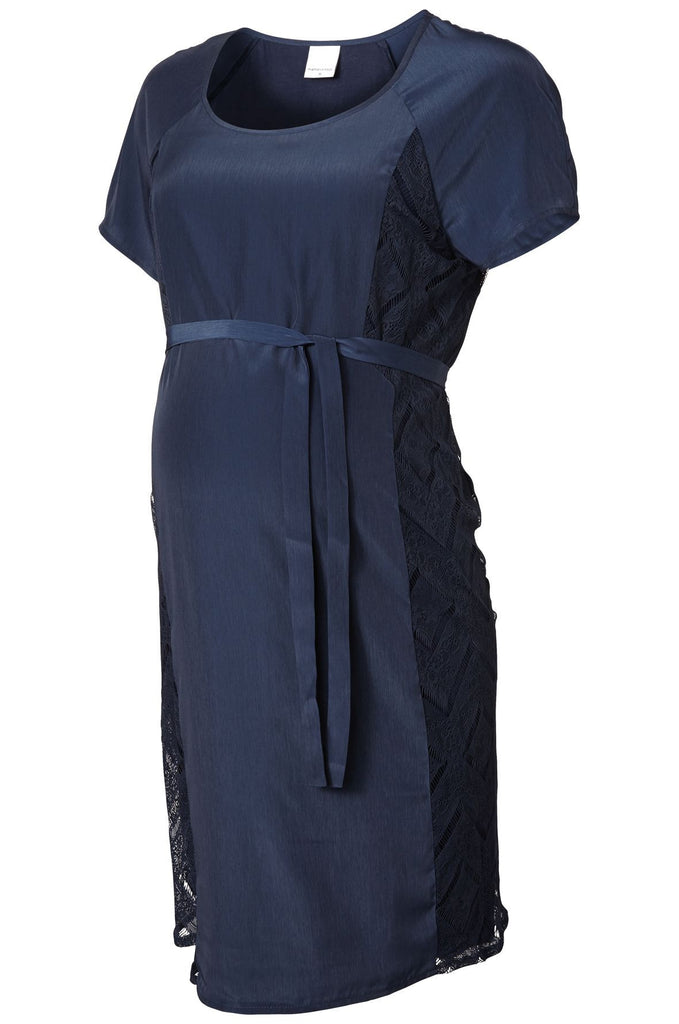 Lucy Special Occasion Wedding Guest Maternity Dress Dark Blue