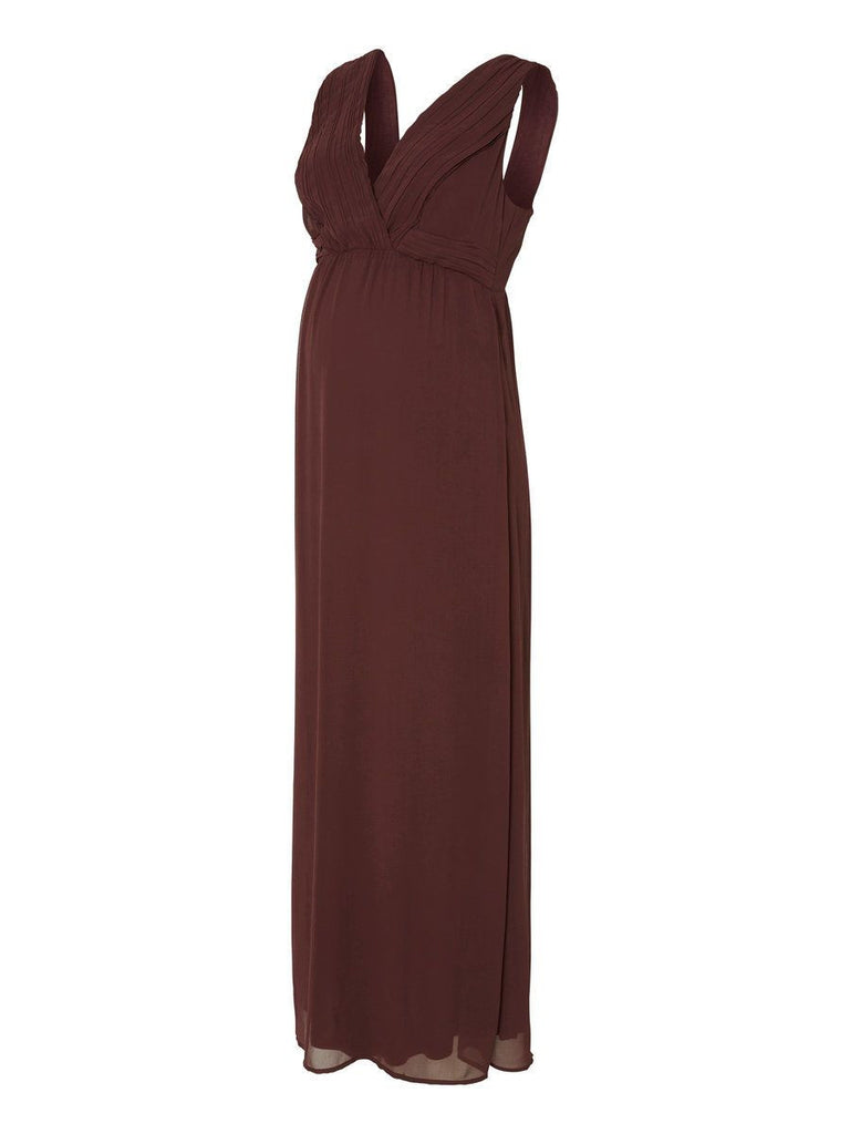 Naja Full Length Evening Maternity Gown Chocolate