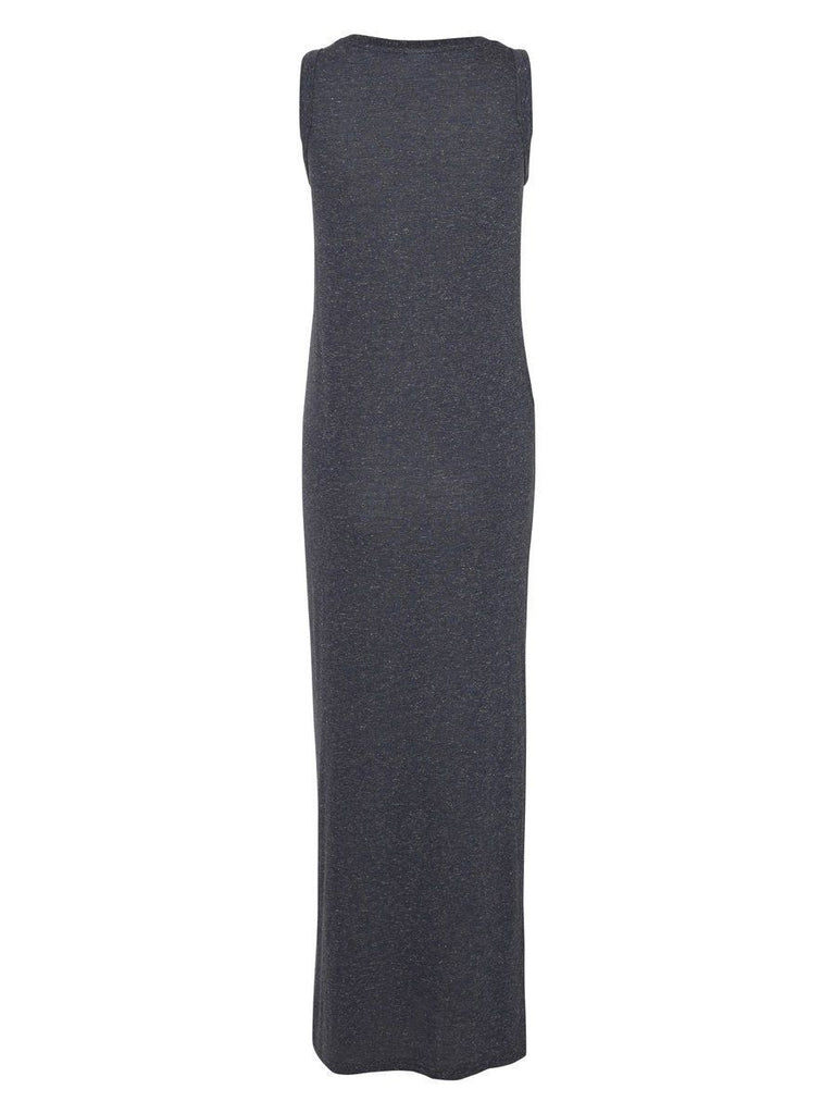 Jersey Maxi Maternity Dress Navy Blue L & XL Only