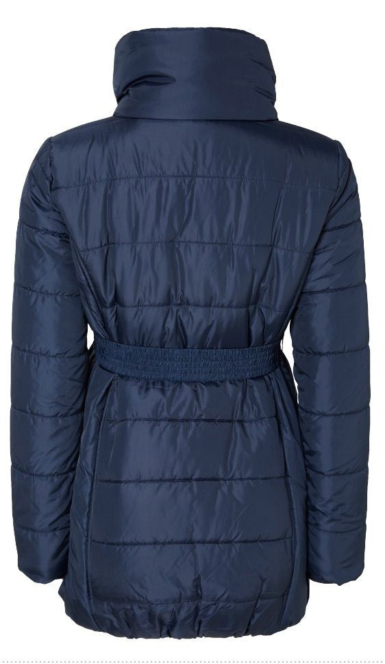 Quilty Padded Maternity Jacket - Blue