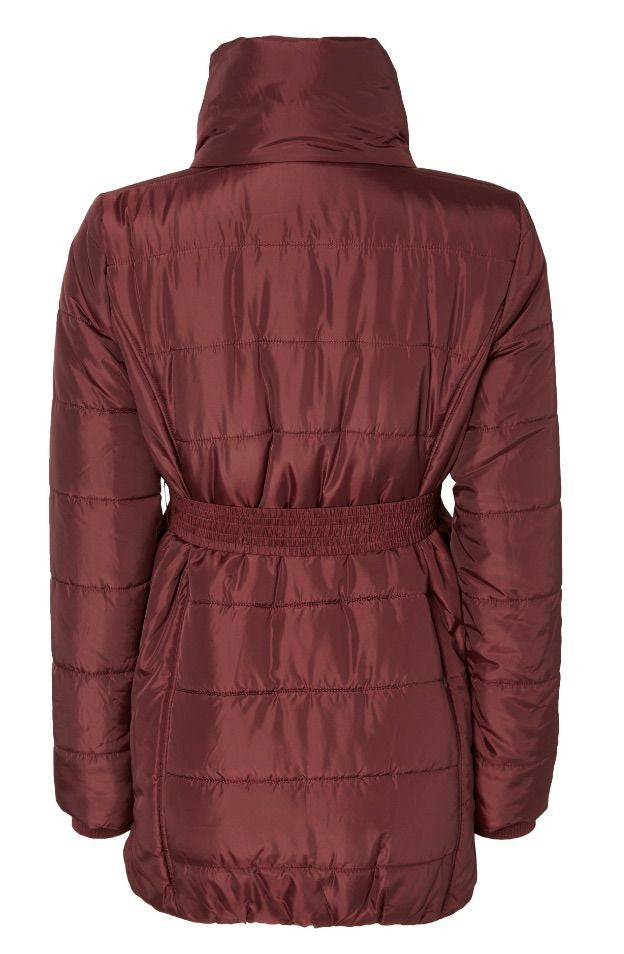 Quilty Padded Maternity Jacket - Chocolate Brown