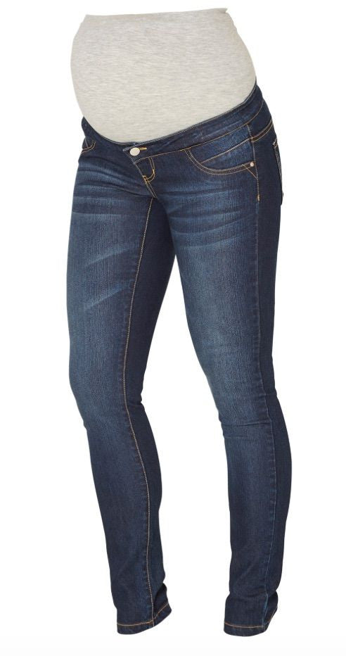 Slim leg, over the bump blue Maternity Jeans