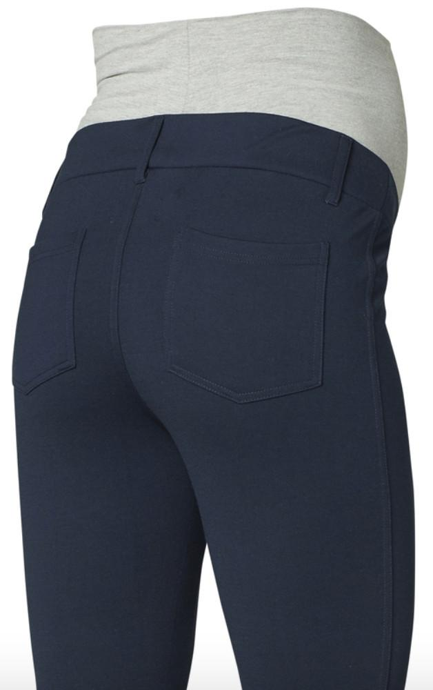 Blue Jersey Maternity Over the Bump Trousers