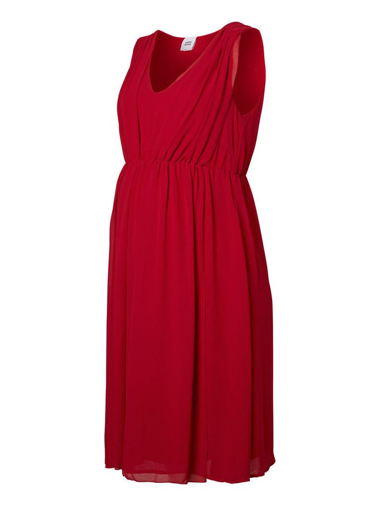 Vienna Red Party Occasion Wear Maternity Dress