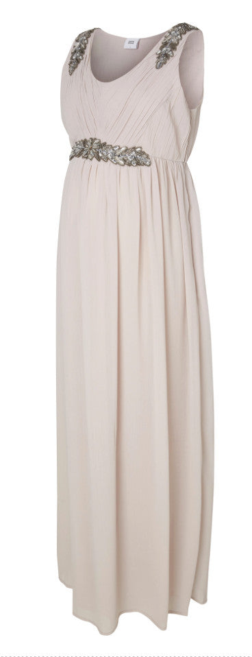 Vinnie Sleeveless Maternity Maxi Occasion Dress