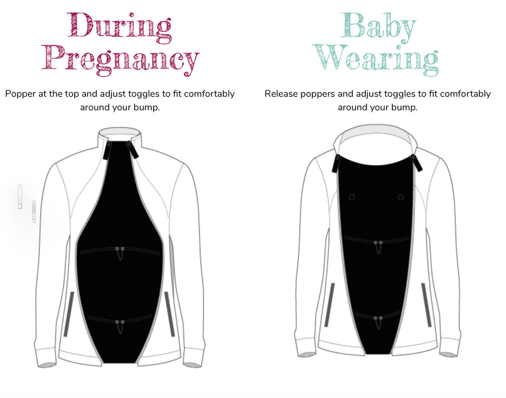 Jacket Expander Panel - For Pregnancy & Baby Wearing