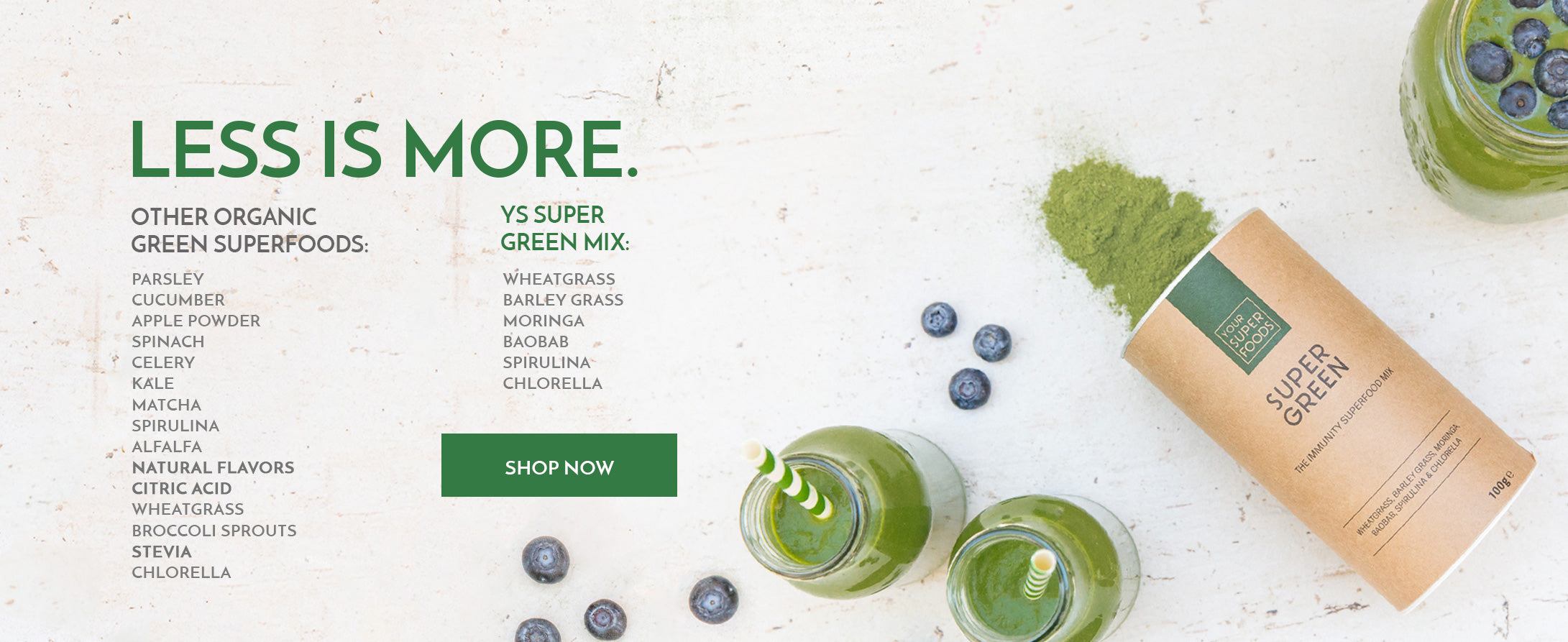7 superfood mixes for easy, healthy smoothies and breakfasts