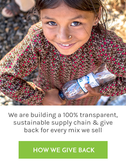 100% transparent, sustainable supply chain