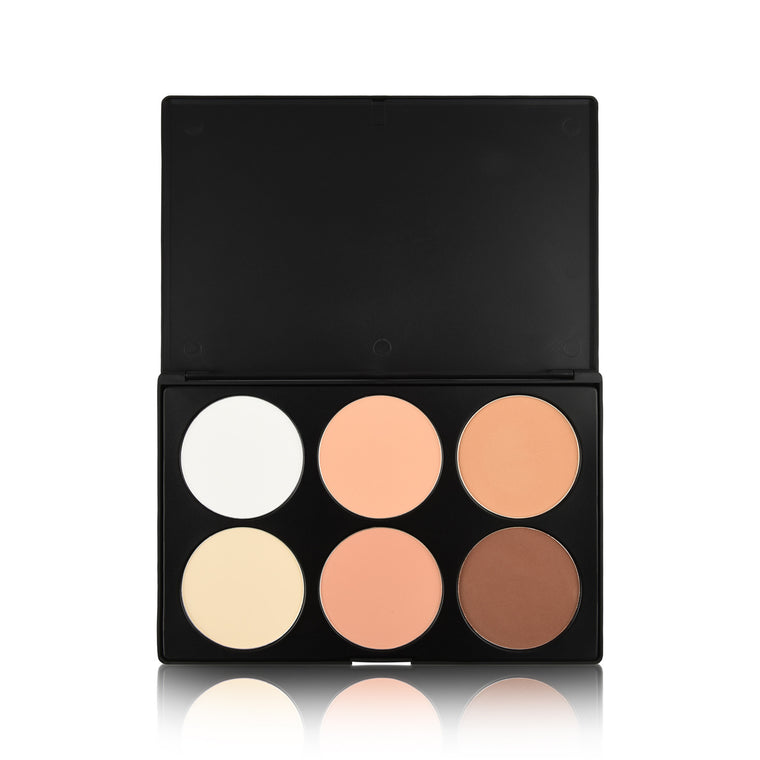 6 Colour Contour Palette - Powder Base
