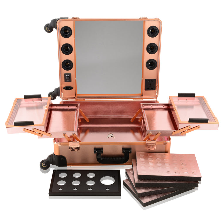 Rose Gold OPV LED Lighted Mirror Case (no legs)