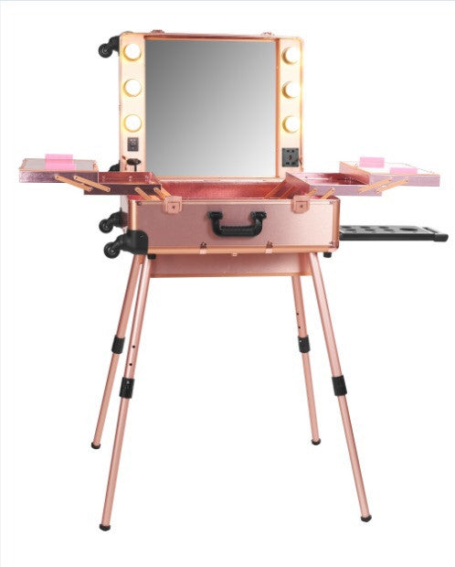 Rose Gold OPV LED Lighted Mirror Case with Legs