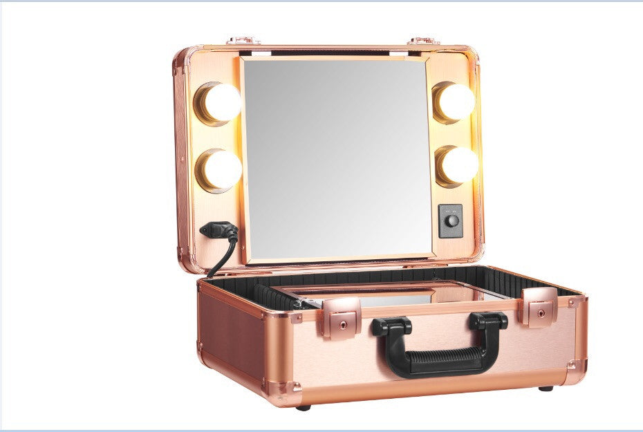 Small Rose Gold Vanity Trolley Opv Beauty